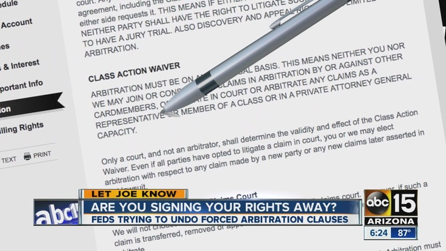 Feds want rules to prevent forced arbitration
