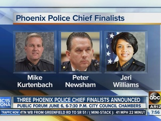 Three still running to become Phoenix PD chief