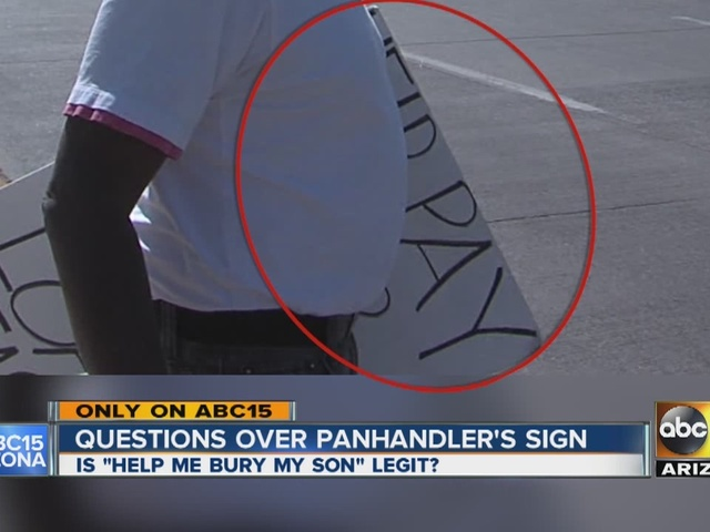 Questions over panhandler's sign in Valley