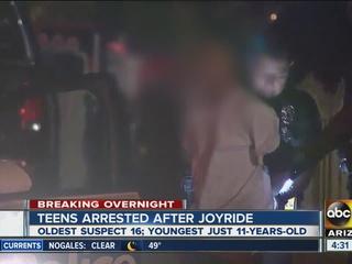 Four juveniles take joyride in stolen vehicle