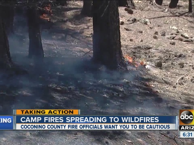 Camp fires could ignite wildfires