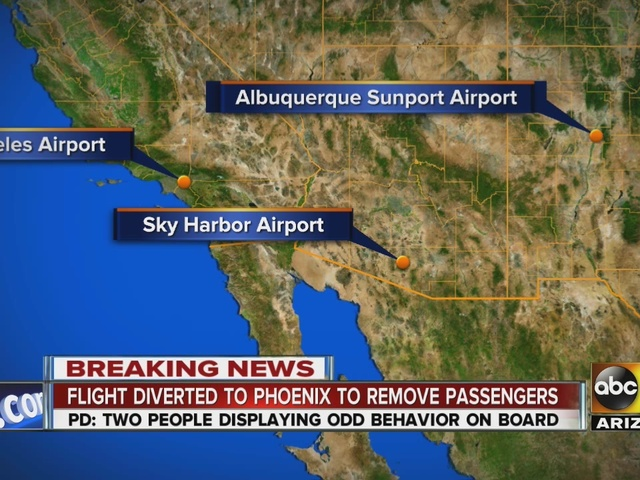 Flight from Los Angeles to Albuquerque diverted to Phoenix