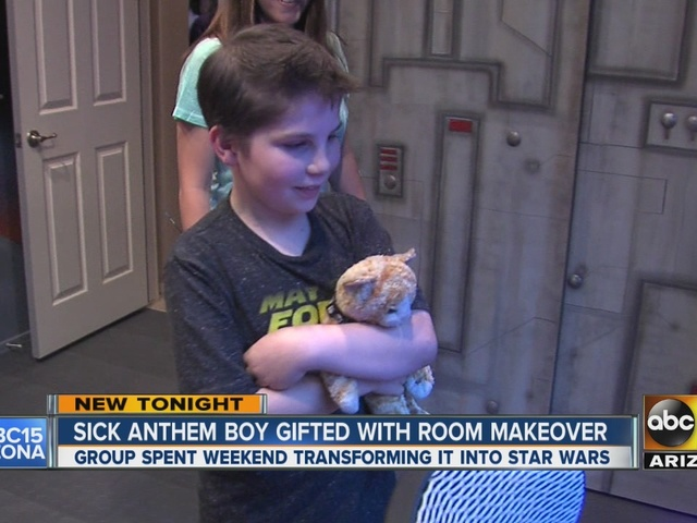 Sick Anthem boy gifted with Star Wars-themed room