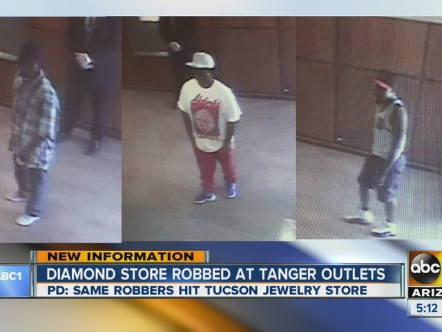 Suspects in Helzberg Diamonds robbery may be involved in Tucson case