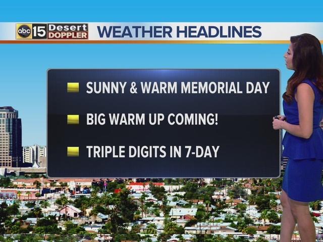 Arizona Weather Forecast A.M.: Monday, May 30, 2016