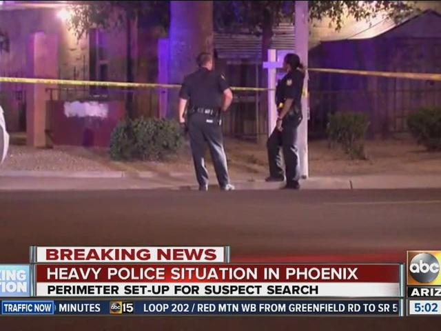 Large police scene in Phoenix