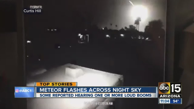 Asteroid Explodes over Arizona Creating Strange Trail