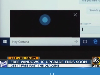 Time running out on free Windows 10 upgrade