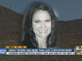 Husband ID's wife who died while mountain biking