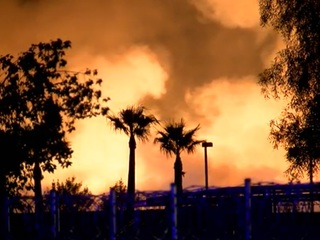 Large mulch fire burning in West Valley