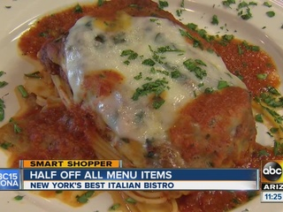Try delicious Italian food for half off