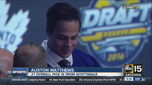 Maple Leafs select Matthews with top pick