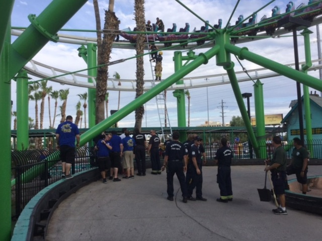 PHX FD: Roller coaster stuck 60-70 feet in air