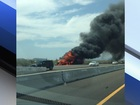 Vehicle fire closes I-17 southbound in Anthem