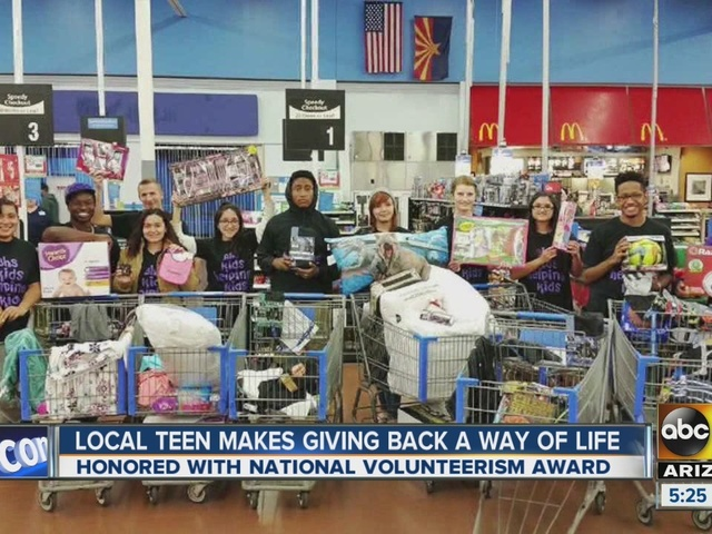 Local teen makes giving back a way of life