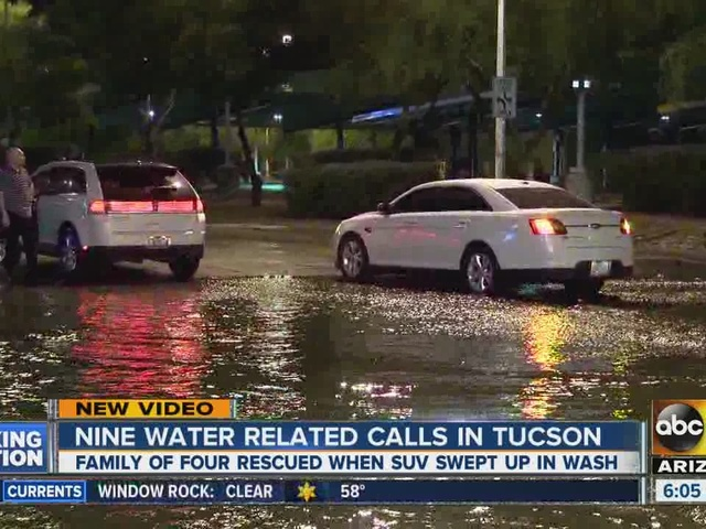 Nine water related rescues in Tucson