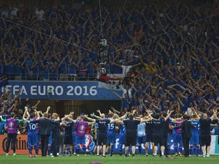 Chills: Iceland celebrates after England stunner