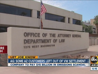 AG: VW settlement leaves out some AZ owners