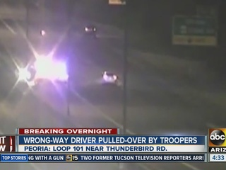 DPS stops wrong-way driver on L-101 in Peoria