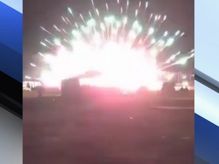 VIDEO: Fireworks explode on ground in Parker