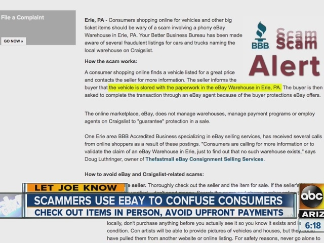 Scammers Use Ebay To Confuse Consumers