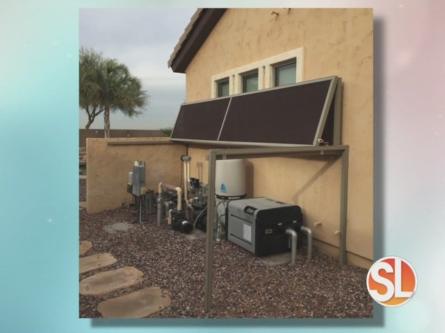 Sun away outdoor shades provides shade for your pool pump for Garden pool equipment