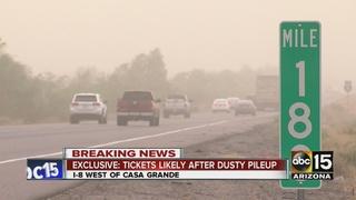 DPS: Semi-trucks crash during dust storm