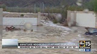 Flooded homes frustrate residents in Phoenix