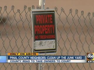 Lawsuit authorized in Eloy yard debris case