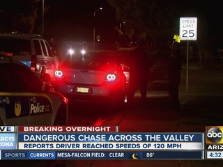 VIDEO: High-speed chase ends in PHX neighborhood