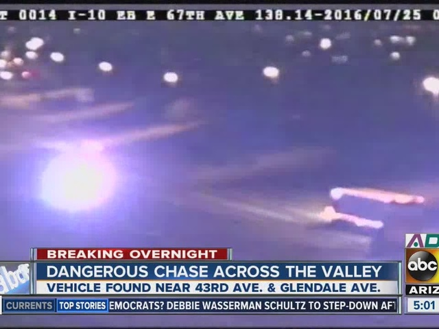 High-speed chase ends in west Phoenix