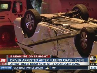 Pregnant woman involved in Ahwatukee crash