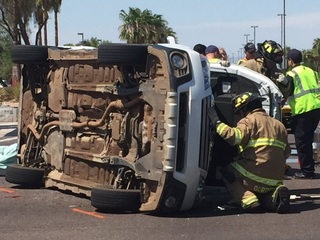 Crash sends one person to hospital in Gilbert
