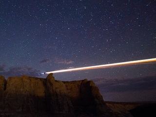 Chinese rocket lights up Western US sky