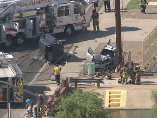 Mesa FD: 4 hurt after crash at Brown/Mesa