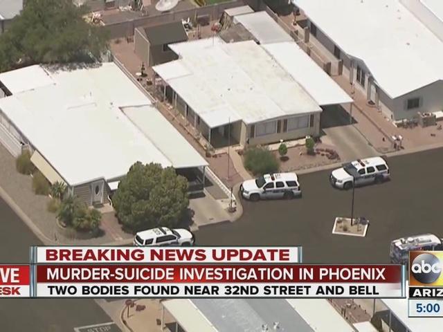 Police investigating a murder-suicide in Phoenix