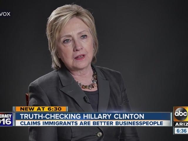 Truth-checking Hillary Clinton