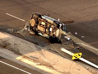 DPS: Man killed after car flips off I-17
