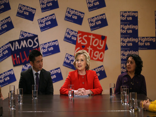 Clinton claims immigrants are better at business