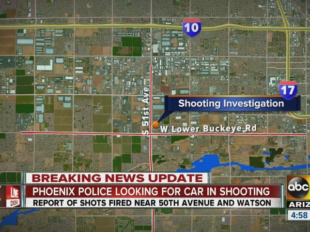 Phoenix police looking for car in shooting; question if it's related to…