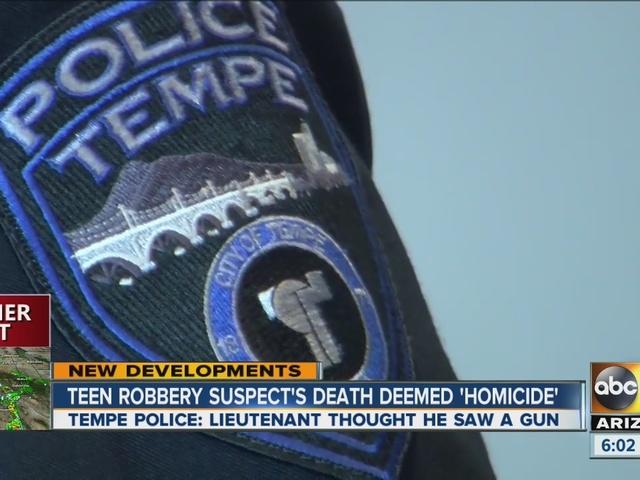 Tempe robbery suspect's death deemed homicide