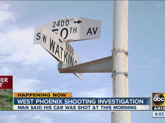 Valley man says shots fired at his car