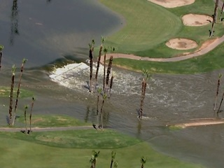 Fore! Camelback golf course flooded in storm