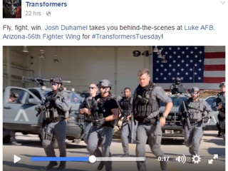 Luke AFB to get cameo in 'Transformers' flick