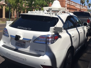 Google shows off self-driving cars in Chandler