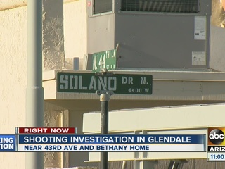 Suspect sought after Glendale shooting