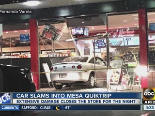 Driver slams into Mesa QT store overnight