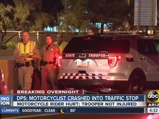 Motorcyclist hurt, driver fled after I-17 crash