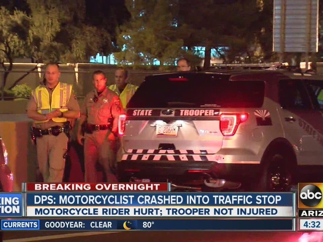 DPS: Motorcyclist crashed into traffic stop