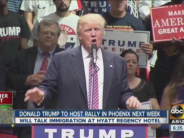 Donald Trump coming to Phoenix